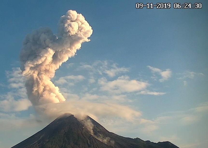 November 16, 2019. EN. Alaska : Cleveland , Alaska : Shishaldin , Indonesia : Merapi , Mexico : Popocatepetl .