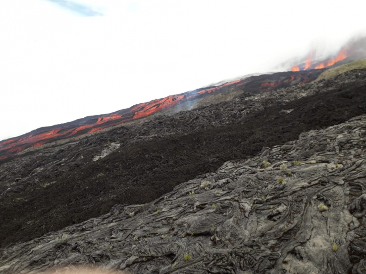 April 02 , 2020. EN. La Réunion : Piton de la Fournaise.