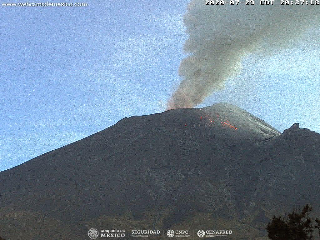 31 Juillet 2020. FR. Hawaii : Mauna Loa , Philippines : Kanlaon / Mayon / Taal / Bulusan , Colombie : Chiles / Cerro Negro , Mexique : Popocatepetl .