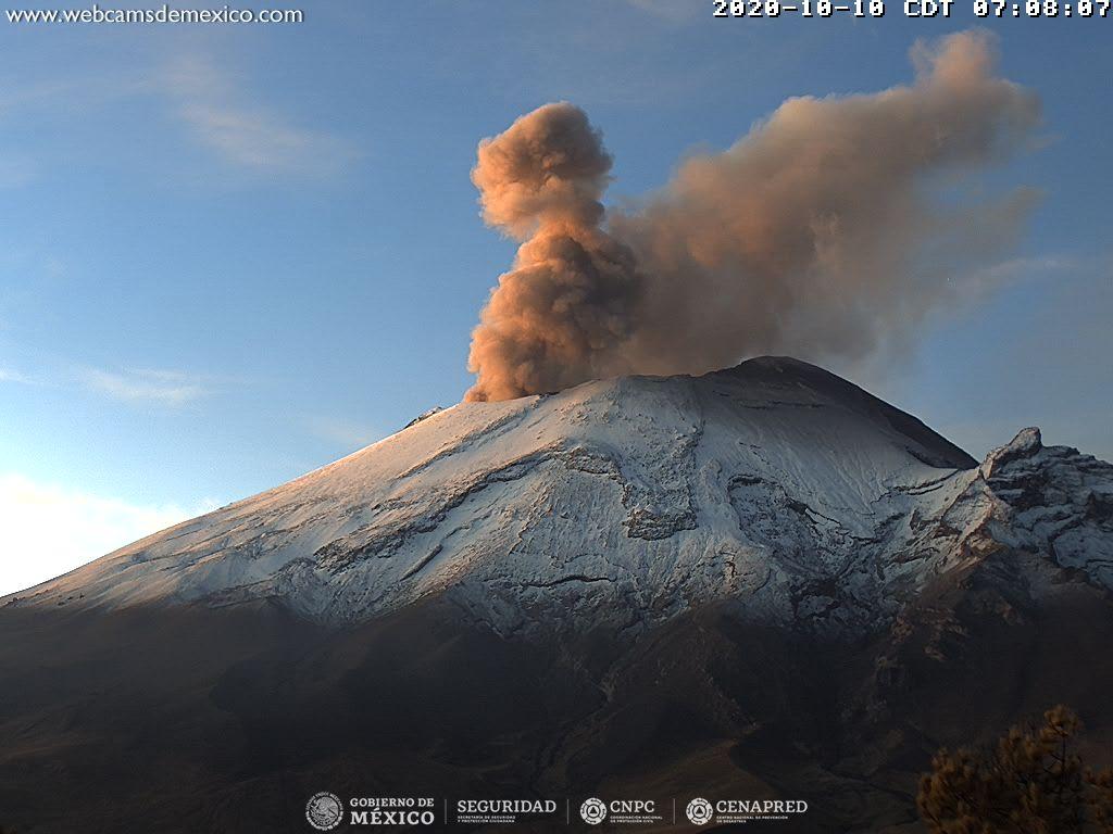 October 12, 2020. EN . Iceland : Grimsvötn , Argentina / Chile : Copahue , Costa Rica : Turrialba / Poas / Rincon de la Vieja , Mexico : Popocatepetl .