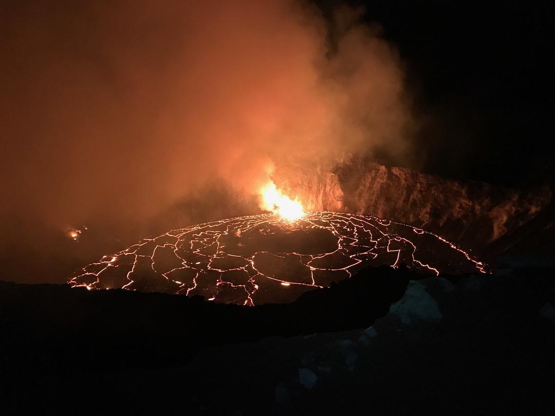 December 27, 2020. EN . Hawaii : Kilauea , Chile : Cerro Hudson , Guatemala : Pacaya , Kamchatka : Klyuchevskoy .
