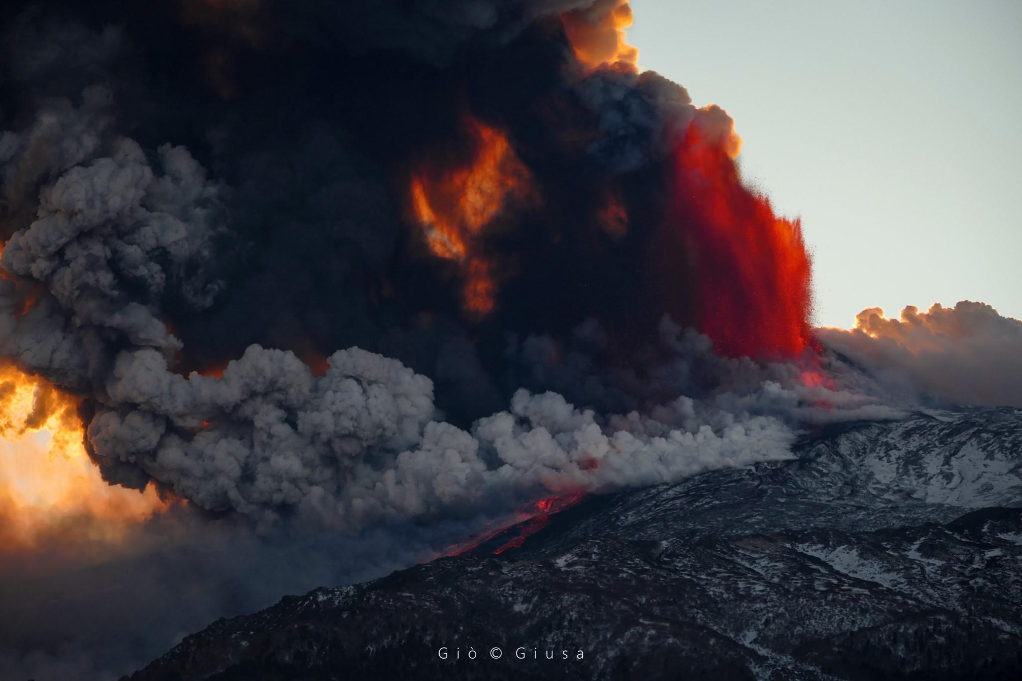 18 Février 2021. FR . Italie / Sicile : Etna , Colombie : Nevado del Ruiz , Philippines : Kanlaon , Saint Vincent : Soufrière Saint Vincent .