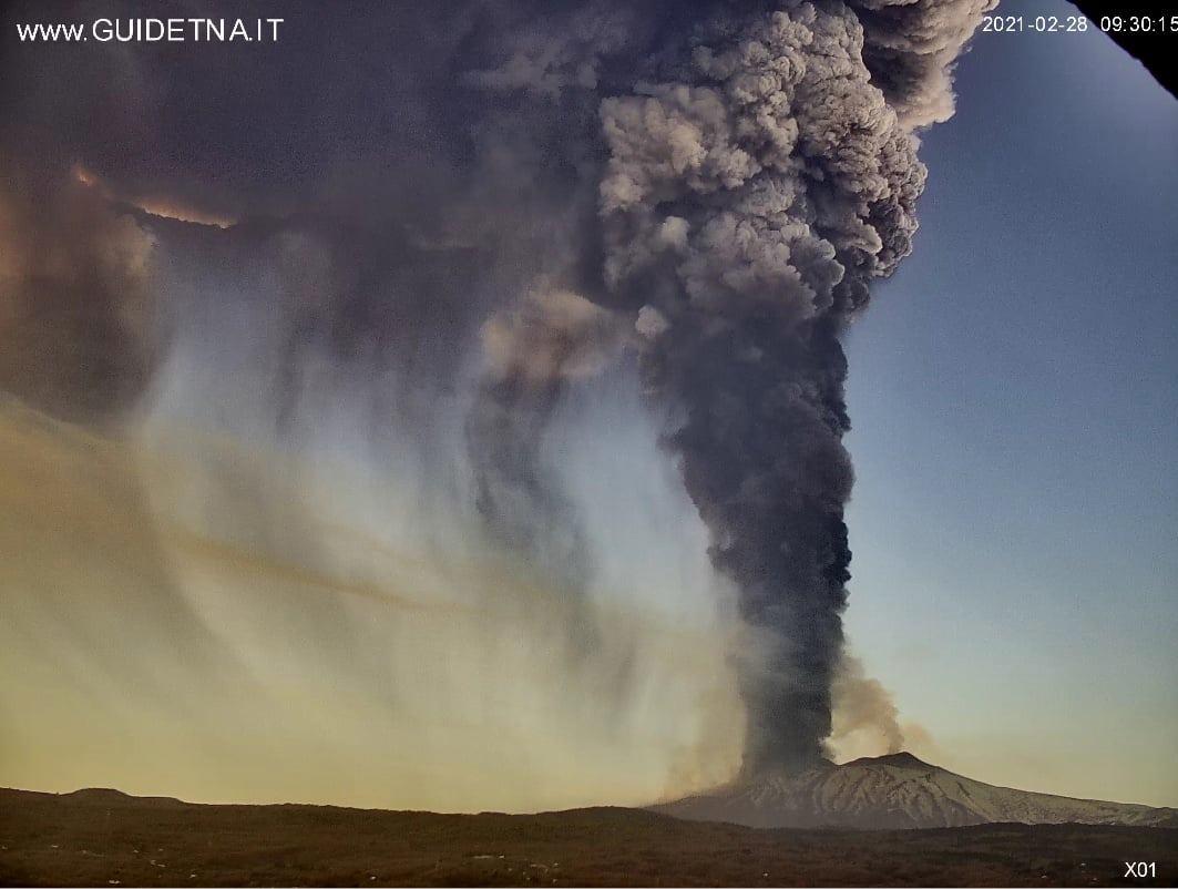 February 28, 2021. EN . Italy / Sicily : Etna , Kamchatka : Ebeko , Indonesia : Merapi , Hawaii : Kilauea , Costa Rica : Turrialba / Poas / Rincon de la Vieja / Irazu .