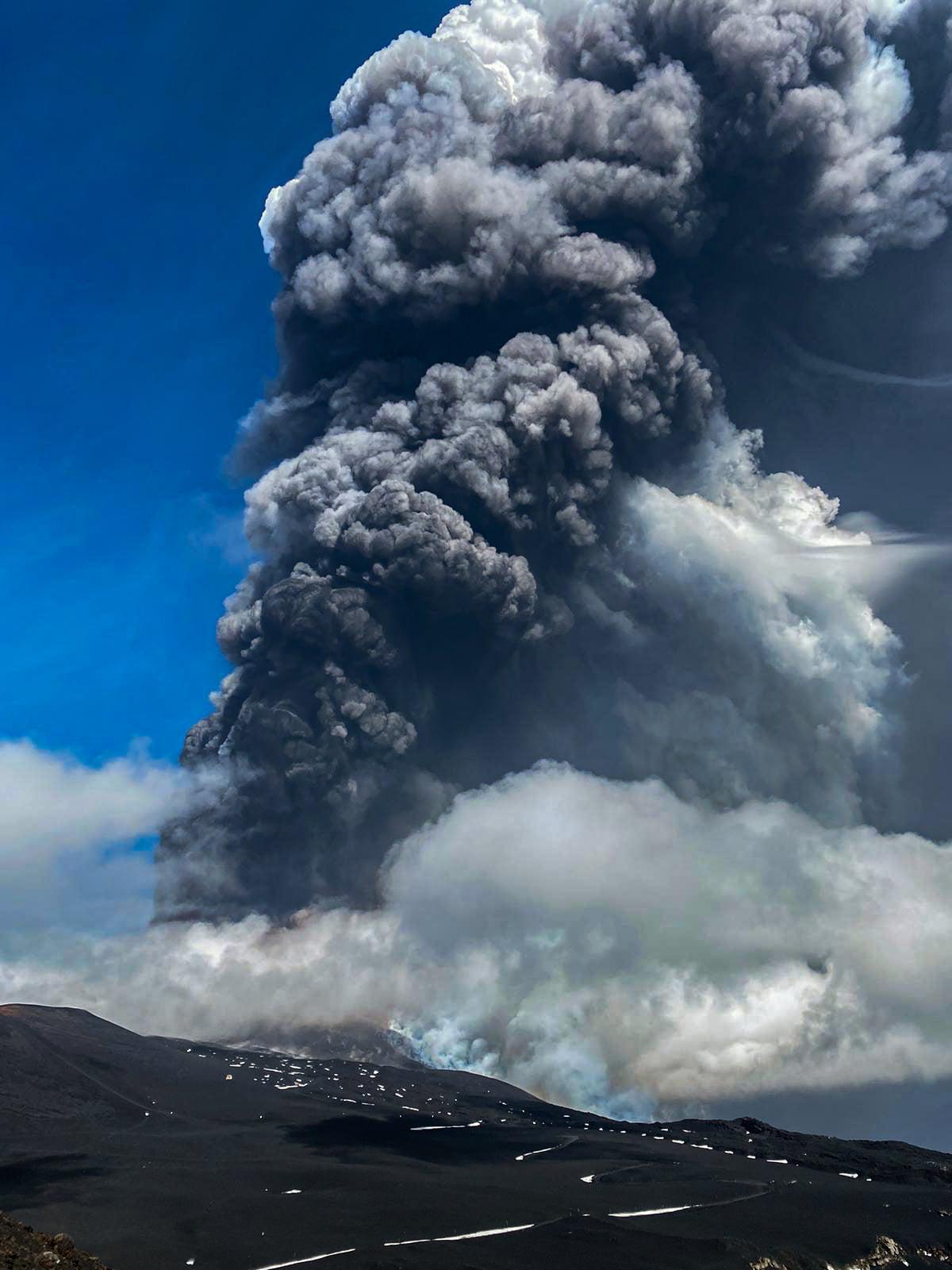 October 25, 2021. EN . Spain / La Palma : Cumbre Vieja , Italy / Sicily : Etna , Hawaii : Kilauea , Kamchatka : Sheveluch , La Martinique : Mount Pelée .